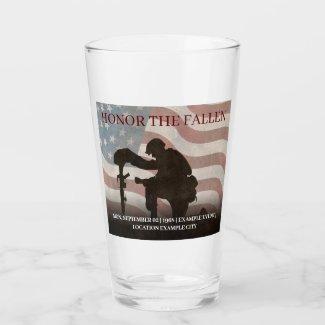 Honor The Fallen Glass