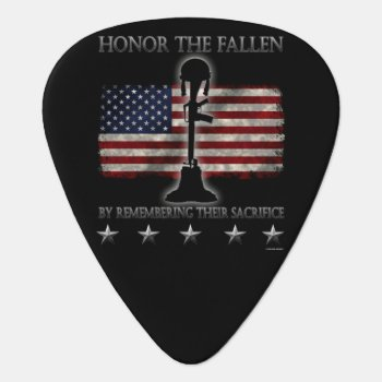 Honor The Fallen Guitar Pick by SteelCrossGraphics at Zazzle