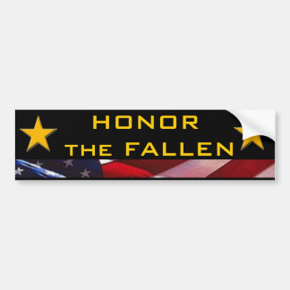 Honor the Fallen Heroes Car Bumper Sticker