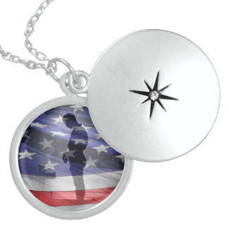 Honor the fallen heroes or the USAS Sterling Silver Necklace