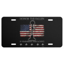 Honor The Fallen License Plate