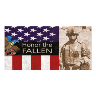 Honor the Fallen Military Card