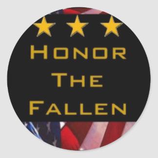 Honor the Fallen Military Classic Round Sticker