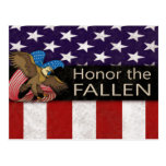 Honor the Fallen Military Post Card
