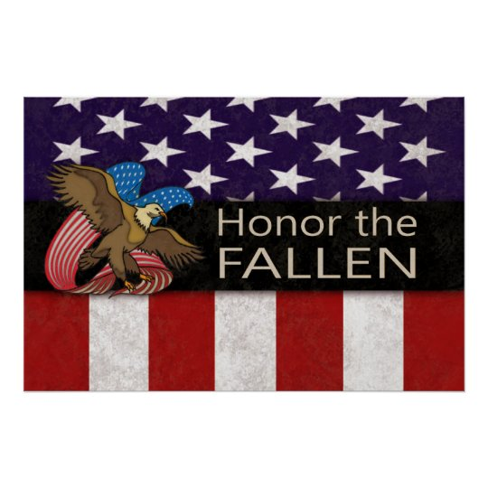 Honor the Fallen Military Poster