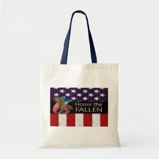 Honor the Fallen Military Tote Bag