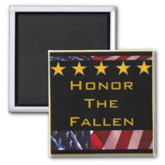 Honor the Fallen Military Tribute 2 Inch Square Magnet