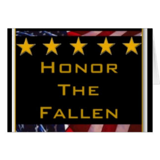 Honor the Fallen Military Tribute Card