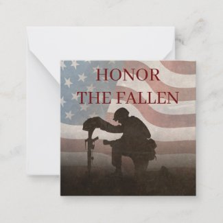 Honor The Fallen Note Card