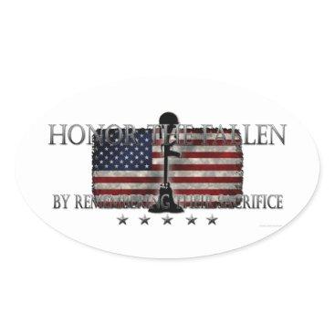 Honor The Fallen Oval Sticker