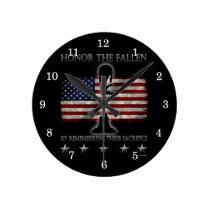 Honor The Fallen Round Clock