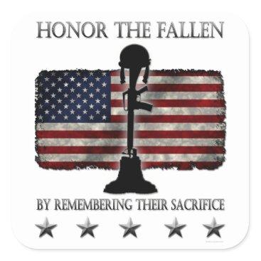 Honor The Fallen Square Sticker