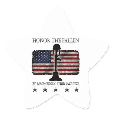 Honor The Fallen Star Sticker