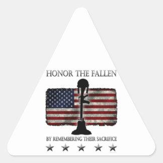 Honor The Fallen Triangle Sticker