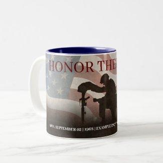 Honor The Fallen Two-Tone Coffee Mug