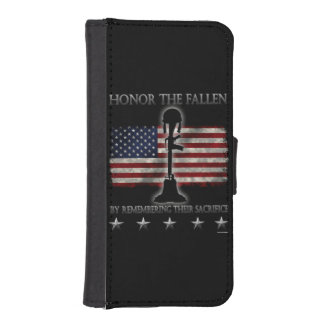 Honor The Fallen Wallet Phone Case For iPhone SE/5/5s