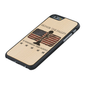 Honor The Fallen Carved® Maple iPhone 6 Slim Case