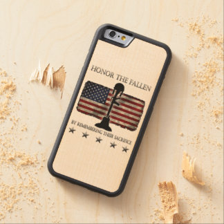 Honor The Fallen Carved® Maple iPhone 6 Bumper