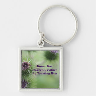 honor the father square keychain