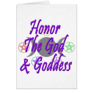 Honor The God & Goddess Greeting Card