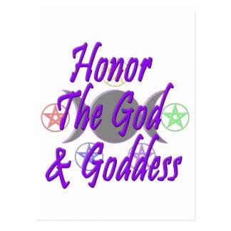 Honor The God & Goddess Postcard