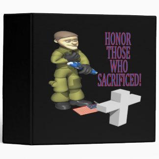 Honor Those Who Sacrificed 3 Ring Binders