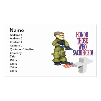 Honor Those Who Sacrificed Double-Sided Standard Business Cards (Pack Of 100)