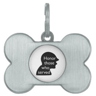 Honor Those Who Served Pet Tags