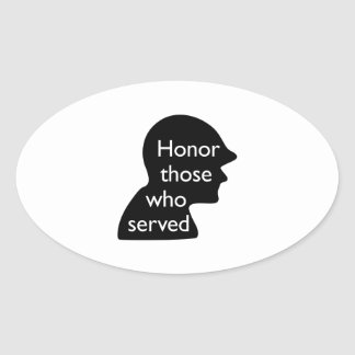 Honor Those Who Served Oval Sticker