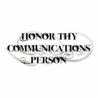 Honor Thy Communications Person Photo Sculptures