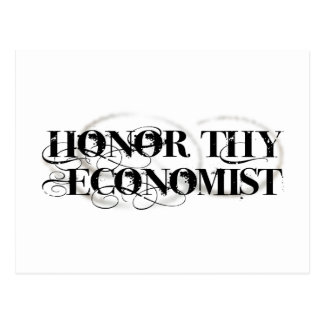 Honor Thy Economist Postcard