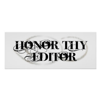Honor Thy Editor Poster