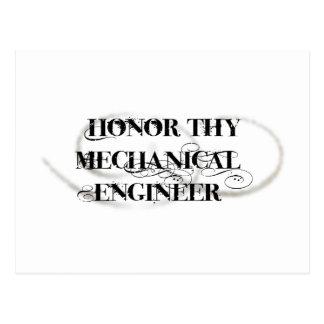 Honor Thy Mechanical Engineer Postcard