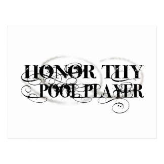 Honor Thy Pool Player Postcard