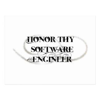 Honor Thy Software Engineer Postcard
