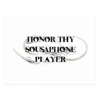 Honor Thy Sousaphone Player Postcard