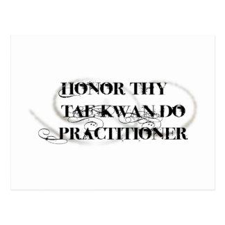 Honor Thy Tae Kwan Do Practitioner Postcard