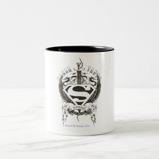 Honor, verdad en blanco taza