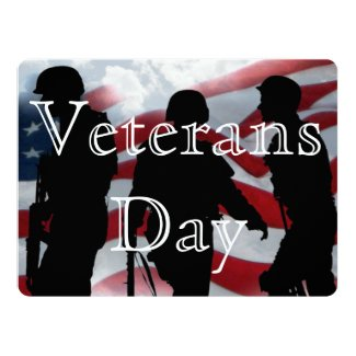 "Honor Veterans Day 6.5"" x 8.75"" Invitation"