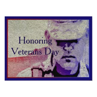 "Honor Veterans Day 7.5"" x 5.5 Invitation Card"