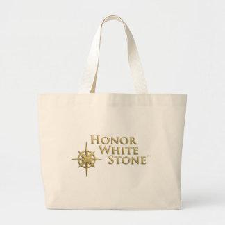Honor White Stone logo Tote Bags