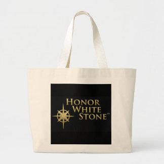 Honor White Stone logo black Tote Bags