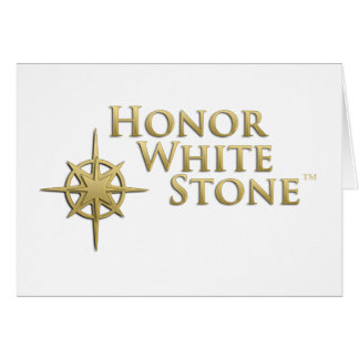 Honor White Stone logo Card