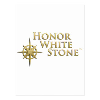 Honor White Stone logo Postcard