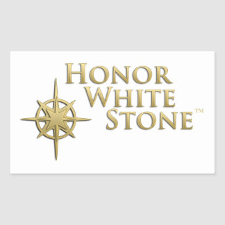 Honor White Stone logo Rectangular Sticker