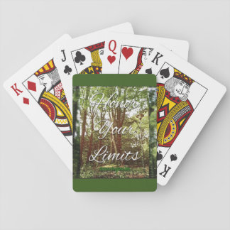 Honor your limits playing cards