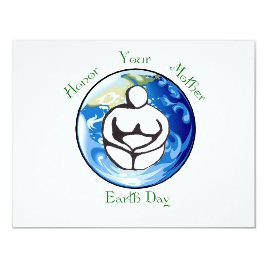 Honor your mother Earth Day Card