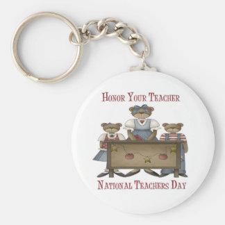Honor Your Teacher National Teachers Day Basic Round Button Keychain