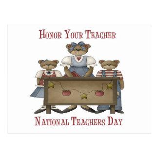 Honor Your Teacher National Teachers Day Postcard