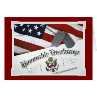 Honorable Discharge Card